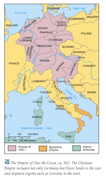 Map of Ottonian Empire